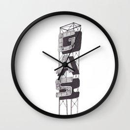 Gas Sign Wall Clock