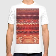 Three-storied pagoda Mens Fitted Tee White MEDIUM