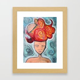 Cerebral Outburst Framed Art Print