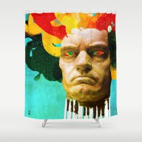 beethoven Shower Curtains featuring Beethoven by Ed Pires