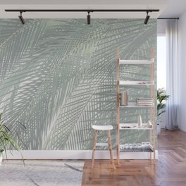 Faded Palm Leaves Wall Mural