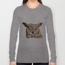 Owl - Realistic Drawing Long Sleeve T-shirt