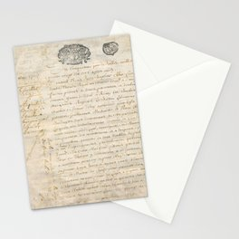 French Contract 1697 Stationery Cards