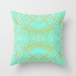 Just the Blues (Light Orange) Throw Pillow