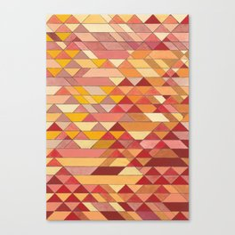 Triangle Pattern no.4 Warm Colors Red and Yellow Canvas Print