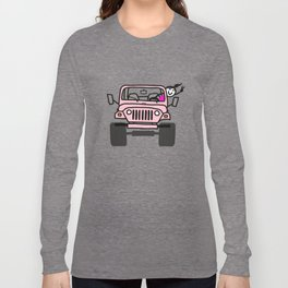 Jeep Wave Pink - Girl Long Sleeve T-shirt