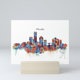 Milwaukee Skyline Mini Art Print