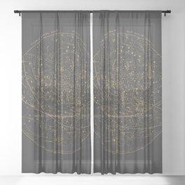 Visible Heavens - Dark Sheer Curtain