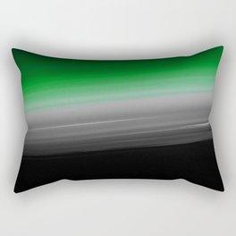 Green Gray Black Ombre Rectangular Pillow