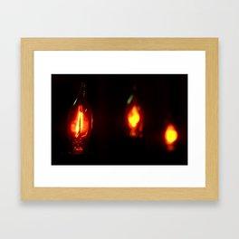 Light in Darkness Framed Art Print