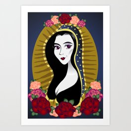 Our Lady Morticia of Addams Art Print