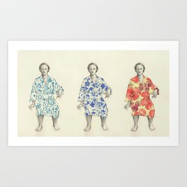 bathrobe Art Print