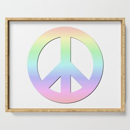 CND Peace Symbol Soft Pastel Rainbow Serving Tray