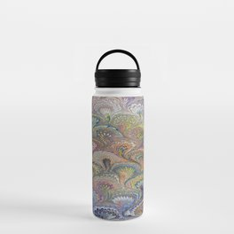 Peacock Water Marbling Water Bottle