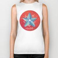 starfish Biker Tanks featuring Starfish by Anoosha Syed
