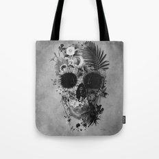 Garden Skull B&W Tote Bag