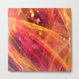 Red-Orange Plasma Metal Print