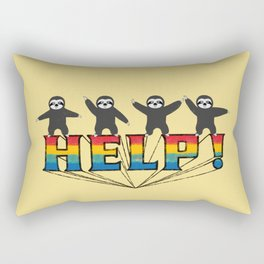 Help! Sloth Rectangular Pillow