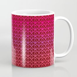 Pattern on burgundy background for Valentine's Day Coffee Mug