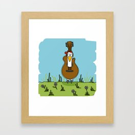 Eglantine la poule (the hen) disguised as a guitare. Framed Art Print