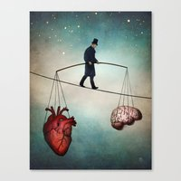balance Canvas Prints featuring The Balance by Christian Schloe