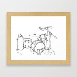 Drum Recording Framed Art Print