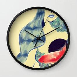 Hazy Pisces Wall Clock