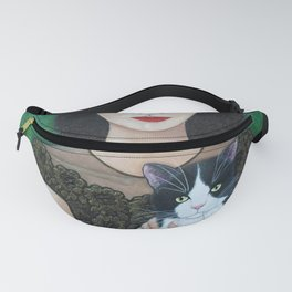 Woman with cat soul Fanny Pack