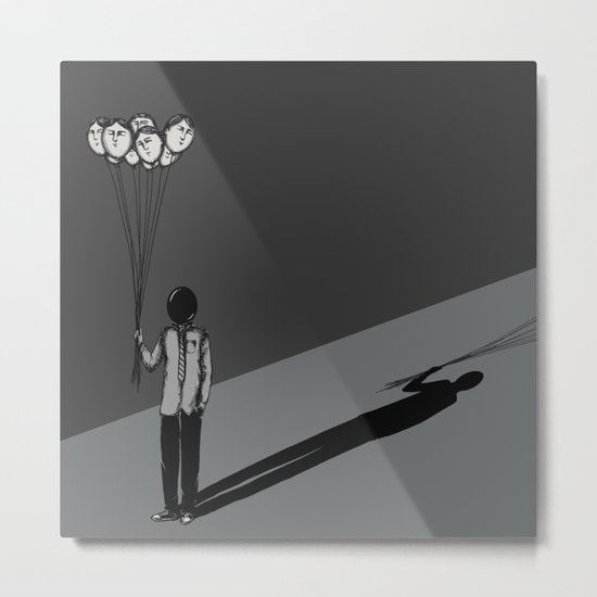 The Black Balloon Metal Print
