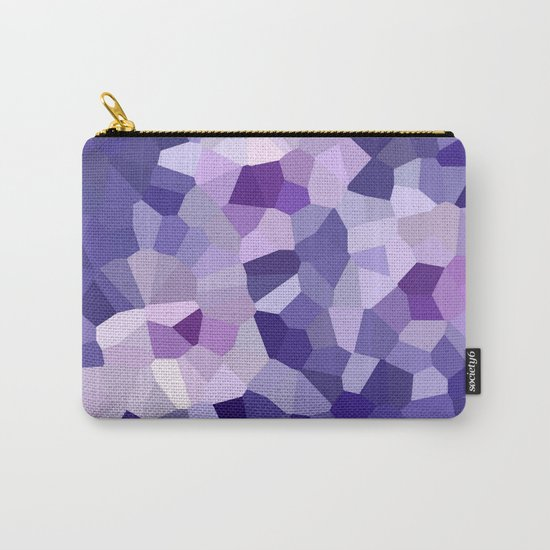 abstract floral in blue and purple shades Carry-All Pouch