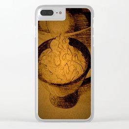 A Fancy Cuppa DPPA150510a Clear iPhone Case
