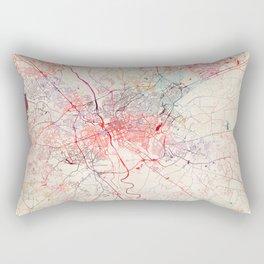 Columbia map South Carolina painting Rectangular Pillow