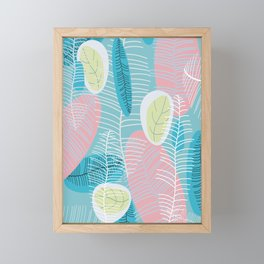 Retro Baby Blue Framed Mini Art Print