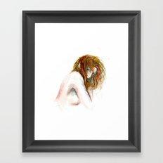 Hidden girl Framed Art Print