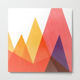 Mountains - Fire Metal Print