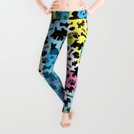 Crazy Dogs Pattern Leggings