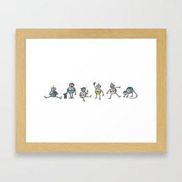 Robot Babies All Framed Art Print