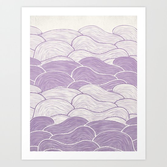 The Lavender Seas Art Print