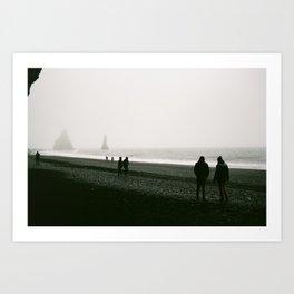 Black Sand Beach, Vík Art Print