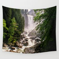 yosemite Wall Tapestries featuring Yosemite Waterfall by Loaded Light Photography
