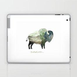 Buffalo Bison / Roam Wanderlust Adventure Travel / Rustic Woodland / Nursery / Gift / Watercolor Laptop & iPad Skin