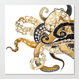 Metallic Octopus Canvas Print