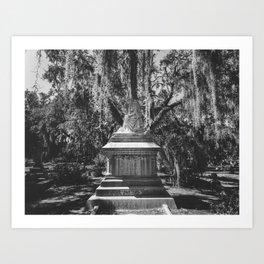 Bonaventure Cemetery Statue Art Print