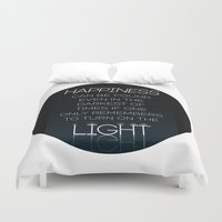 dumbledore Duvet Covers featuring Harry Potter Albus Dumbledore Quote by raeuberstochter