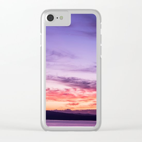 Auckland Sunset Clear iPhone Case