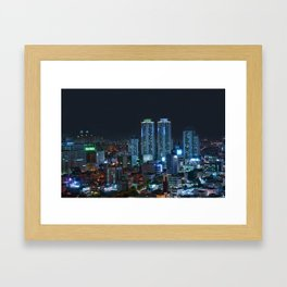 Daegu at Night Framed Art Print