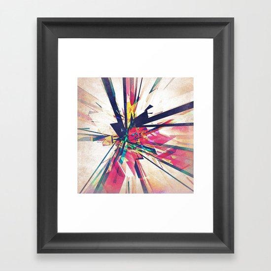Abstract Geometry Framed Art Print