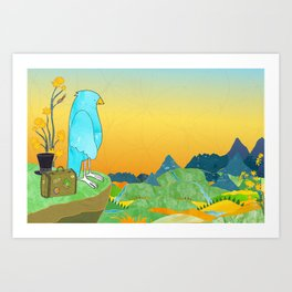 """The Journey Begins (from the book, """"You, the Magician"""") Art Print"""