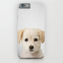 Golden Retriever Puppy - Colorful iPhone Case
