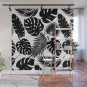 Tropical Leaves - Black on White by fancyashelltees